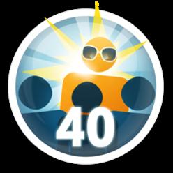 Convide pessoas que conhece para usarem o Apontador! 40 seguidores e consiga essa medalha.