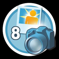 Suba 8 fotos para vários locais e ganhe essa medalha