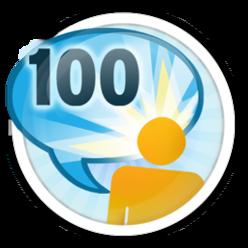 100 avaliações