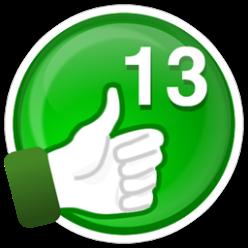 13 curtidas em suas avaliações valem esta supermedalha