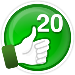 20 curtidas em suas avaliações ajudam você ganhar esta supermedalha